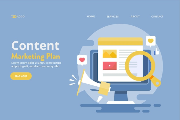 Concetto di content marketing
