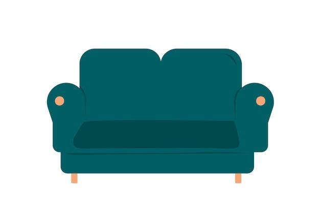 Concetto di un accogliente divano per la casa. banner web rilassarsi sul divano guardando la tv dopo il lavoro vettore.