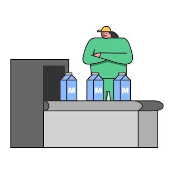 Concetto di produzione di latte