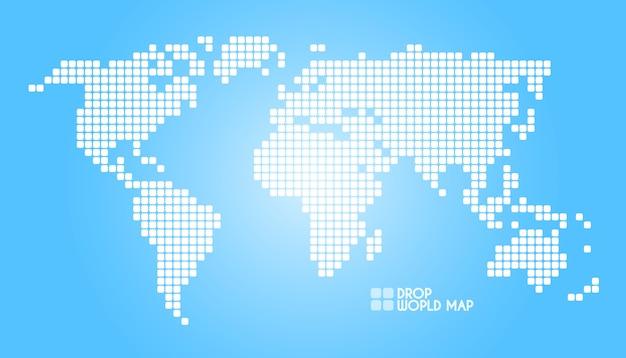 Illustrazione della mappa del mondo di punti di concetto