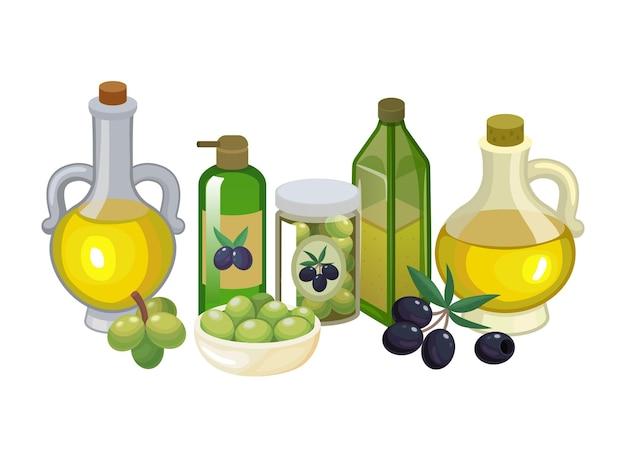 Concetto eco salute prodotto naturale olio d'oliva vergine
