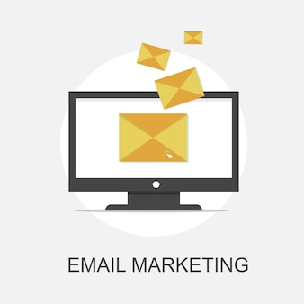 Il concetto di email marketing e comunicazione con la pubblicità digitale