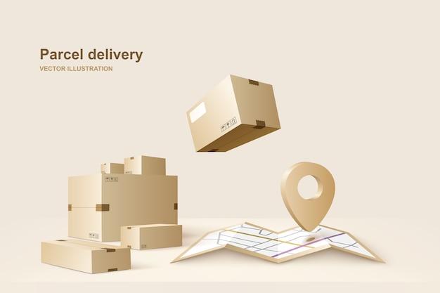Concetto per un servizio di consegna veloce