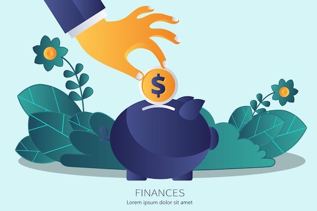 Concetto per le finanze