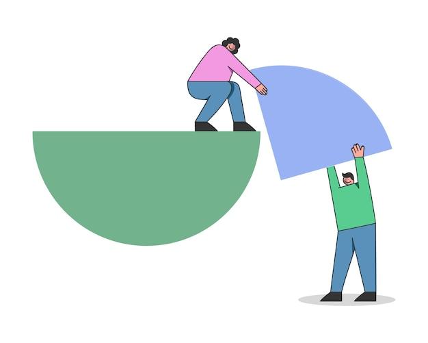 Concetto di formazione del rendiconto finanziario, statistiche e relazione aziendale.