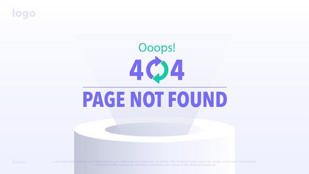 Concetto pagina di caricamento per i siti pagina di errore pagina non trovata errore 404 errore ooops
