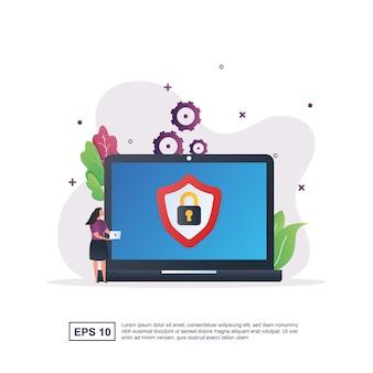 Concetto di schermata di blocco con un'immagine lucchetto sullo schermo