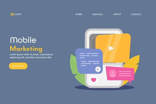 Concetto di mobile marketing