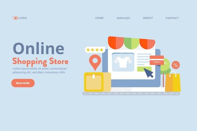 Concetto di negozio di shopping online