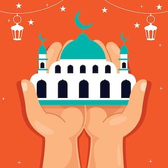 Concetto di ramadan kareem e cultura islamica