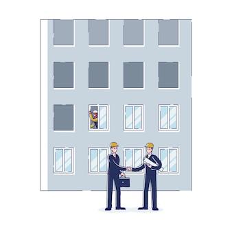 Concetto di costruzione di appartamenti residenziali