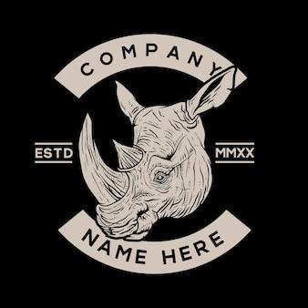 Concept testa di rinoceronte