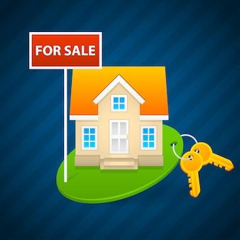 Concetto di vendita di case di campagna, formato eps 10