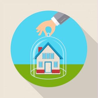Concetto per il salvataggio di proprietà