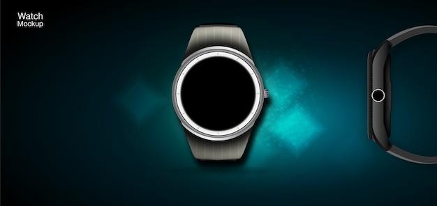 Concetto di orologi intelligenti. illustrazione realistica con uno stile futuristico.