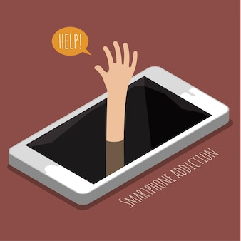 Concetto di dipendenza da smartphone