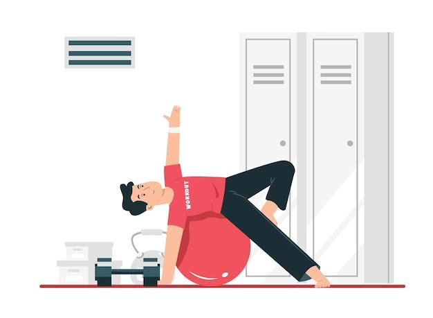 Il concetto di sport per la salute esercizio per mantenere la flessibilità del corpo