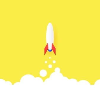 Il concetto di un avvio di successo startup lancia una grande idea e creatività