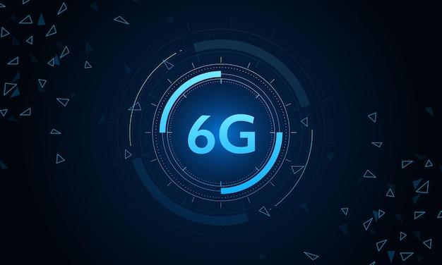 Concetto di tecnologia rete mobile 6g telecomunicazioni di nuova generazione internet mobile ad alta velocità
