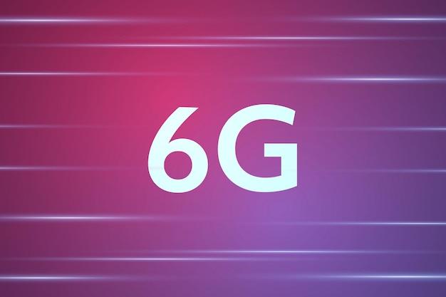 Concetto di tecnologia rete mobile 6g telecomunicazioni di nuova generazione mobile ad alta velocità Vettore Premium