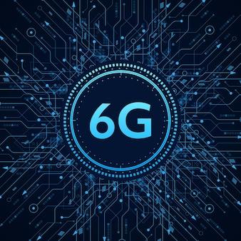 Concetto di tecnologia rete mobile 6g telecomunicazioni di nuova generazione mobile ad alta velocità