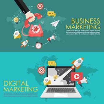 Concetto di marketing telefonico e marketing digitale