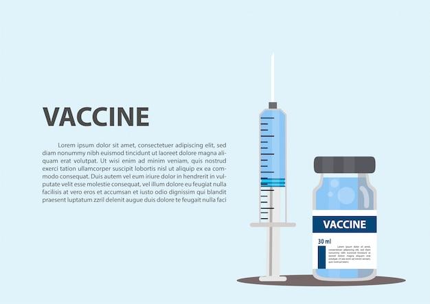 Concetto di vaccinazione.