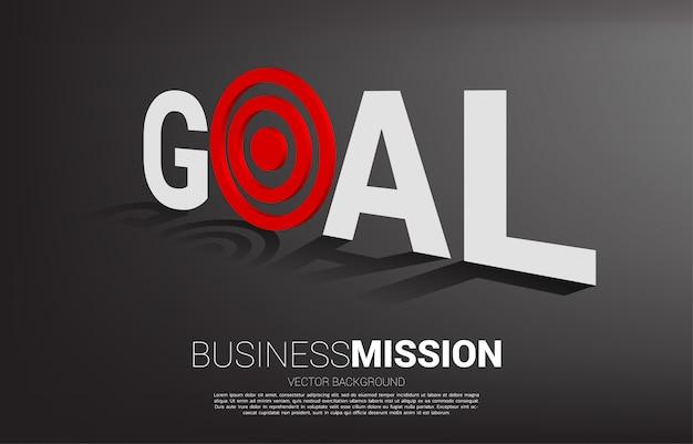 Concetto di visione missione e obiettivo del business