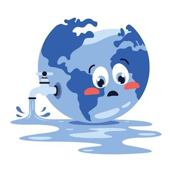 Concetto di parola giornata dell'acqua
