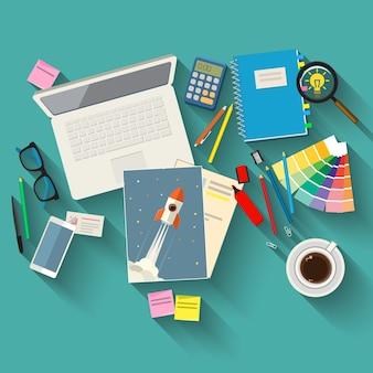 Concetti di creatività per il business design piatto illustrazione