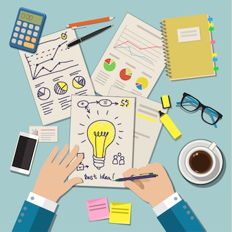 Concetti di idea per il business. illustrazione piatta