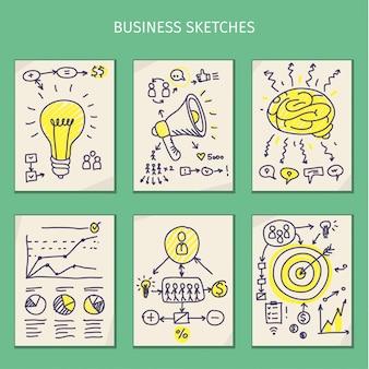 Concetti di idea. schizzi per affari. illustrazione