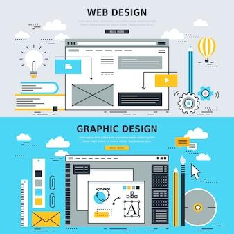 Concetti per web design e graphic design Vettore Premium