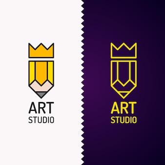 Logo concettuale ed etichetta art design