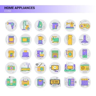 Icona di riscaldamento domestico della casa del condizionatore raccolta di elettrodomestici della cucina