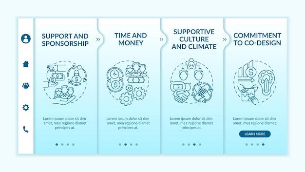Condizioni per il modello di onboarding della progettazione collaborativa