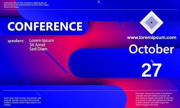 Modello di annuncio della conferenza. sfondo di affari. progettazione astratta della conferenza. illustrazione vettoriale di colore.