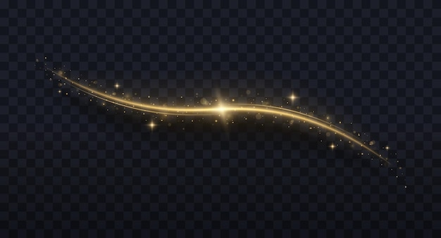 Onda scintillante di coriandoli particelle di polvere magica scintillanti effetto luce natalizia