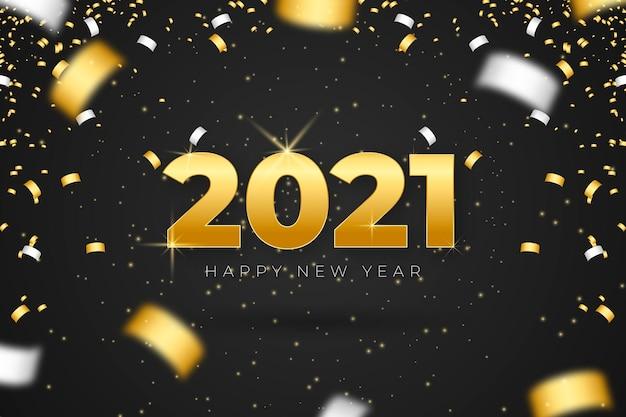 Sfondo di coriandoli nuovo anno 2021