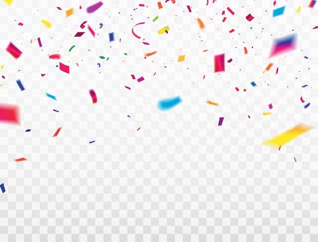 Cornice di nastri confetti.
