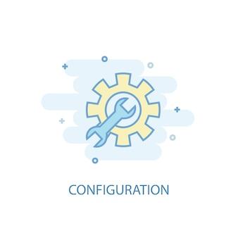 Concetto di linea di configurazione. icona della linea semplice, illustrazione colorata. simbolo di configurazione design piatto. può essere utilizzato per ui/ux