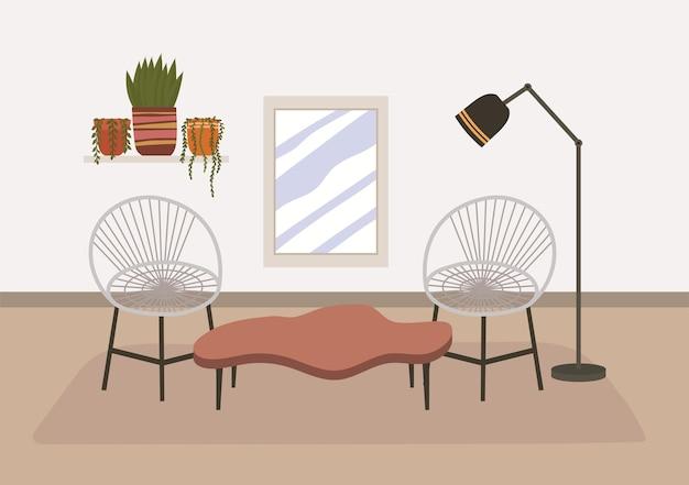 Illustrazione di casa confortevole con