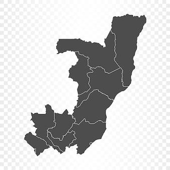 Mappa del congo isolata su trasparente