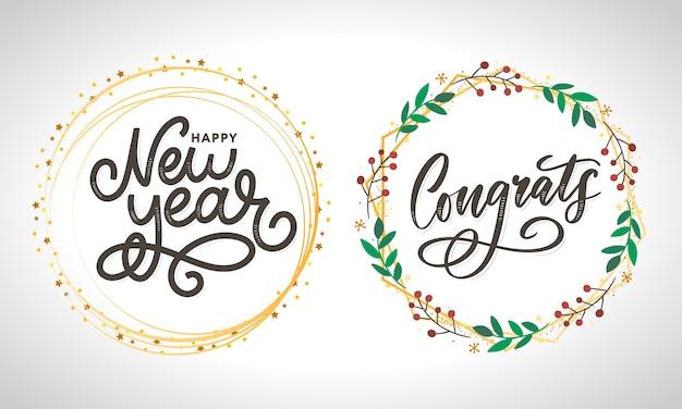 Congratulazioni congratulazioni carta lettering calligrafia testo pennello