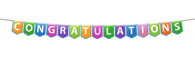 Banner di congratulazioni