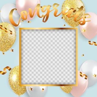Congratulazioni progettazione sfondo modello