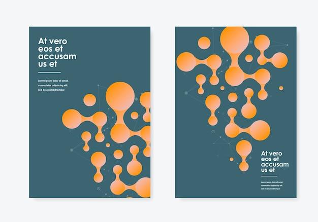 Collega il design dei cerchi. copertina, volantino con forma geometrica astratta.