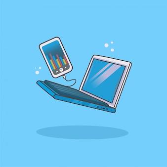 Collega il laptop al telefono manuale