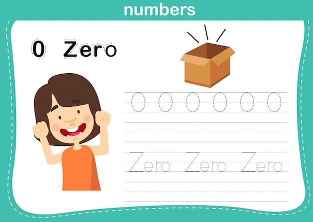 Il punto di collegamento e i numeri stampabili si esercitano per l'illustrazione dei bambini della scuola materna e dell'asilo
