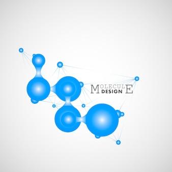 Progettazione della molecola di connessione. ottimo design per qualsiasi scopo. modello astratto. design futuristico. tecnologia del futuro. sfondo medico, tecnologico, scientifico. rete sociale globale.